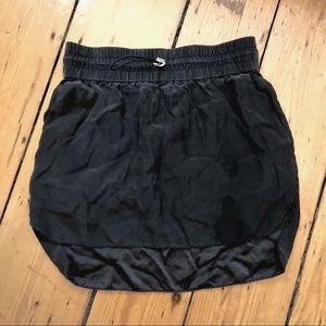 Elizabeth & James silk drawstring mini skirt XS